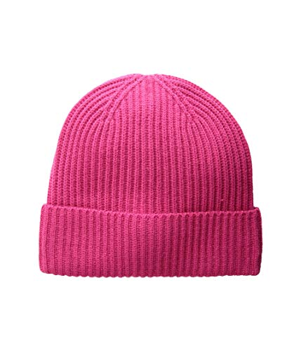 Kate Spade New York Women's Solid Bow Beanie Hat, Begonia Bloom, One Size