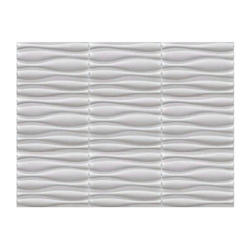 Festnight 6 m² 3D Wandpaneele Wandverkleidung Wand Paneel Deckenpaneel aus Bambusfaser 0,625x0,8 Muster Welle -