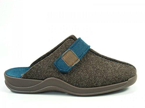 Rohde Schuhe Damen Hausschuhe Pantoffeln Clogs Filz Vaasa-D 2315-72 Braun
