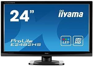 "Iiyama Prolite - E2482HS GB1 - Ecran PC LED 24"" (60,9 cm) 1920 x 1080 5 ms VGA DVI Noir"