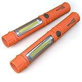 2 x Notleuchte fürs Auto - super helle LED Taschenlampe / Arbeitslampe mit Magnet und Gürtelclip - Unverzichtbar im Handschuhfach bei nächtlichen Autopannen