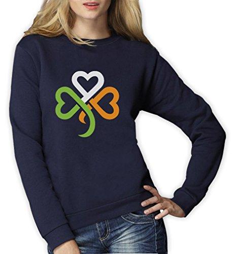 St. Patrick's Day Shamrock Kleeblatt Irland Farben Frauen Sweatshirt Medium (Tag Shirts Beste St Patricks)