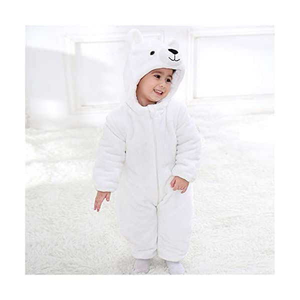 Recién Nacido Franela Mameluco Bebé Unisexo Invierno Jumpsuit Animal Caricatura Trajes 0-24 Meses 2
