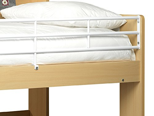Happy Beds Domino Bunk Bed Maple and White Finished Sleep Station Childrens Kids 2x Luxury Spring Mattresses 3' Single 90 x 190 cm
