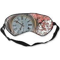 Schlafaugenmasken mit Uhrendruck, Seide, verstellbarer Gurt preisvergleich bei billige-tabletten.eu