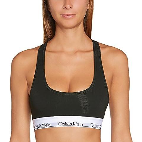 Calvin Klein Damen Bustier MODERN - BRALETTE, Einfarbig, Schwarz (BLACK 001), 38 (Herstellergröße: (Klein Calvin)