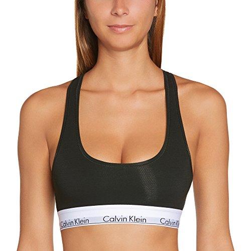 Calvin Klein Damen Bustier MODERN - BRALETTE, Einfarbig, Schwarz (BLACK 001), S