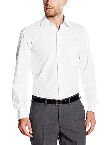 BlueBlack Herren Regular Fit Business Hemd Valerio, langarm, bügelfrei, Gr. Kragenweite: 40, Weiß (weiß 1)