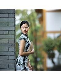 Qingxi Ragazze Lunghe Abito Senza Maniche in Pizzo Cheongsam Autunno Atmosfera dignitosa Elegante Auto-Coltivazione Miglioramento Quotidiano Cheongsam Abbigliamento sportivo
