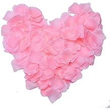 JUNGEN 500Uds Pétalos de Rosa en Seda de Rosa Natural para Decoración Bodas Fiestas Confeti Tela Artificial Petalos De Rosa (Rosado)