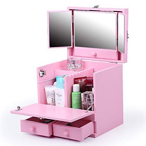WUHX Kosmetische Aufbewahrungsbox Mehrschichtige Aufbewahrungsbox Tragbare Schmucketui Halskette...