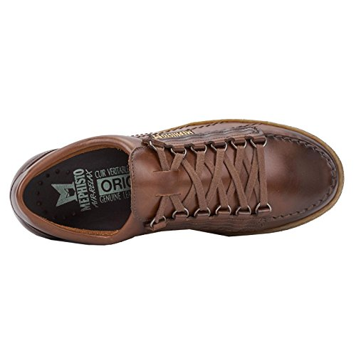 Mephisto Mens Rainbow Leather Shoes Chestnut