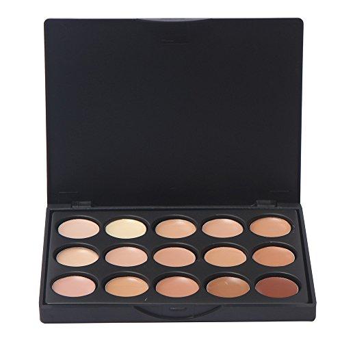 Ruwhere 15 Colores Corrector Camuflaje Paleta Maquillaje