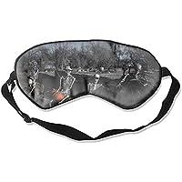 Halloween Skelett Schlafmaske Seide Augenmaske mit verstellbaren Trägern für Schlafen Reisen Nickerchen preisvergleich bei billige-tabletten.eu