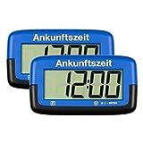 2X Needit Park Micro Digitale Parkscheibe Mikro elektronische Parkuhr mit offizieller Zulassung (blau), Menge: 2 Stück