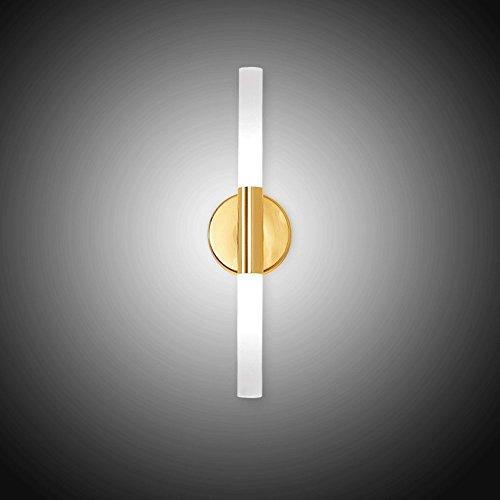 LED Eisen Wandlampen, Nordic Schwarz / Gold Doppelkopf Acryl Wand Hängelampe Moderne minimalistische Wohnzimmer Studie Schlafzimmer Wandleuchte Kreative Esszimmer Cafe Korridor Wandleuchte ( Color : Gold )