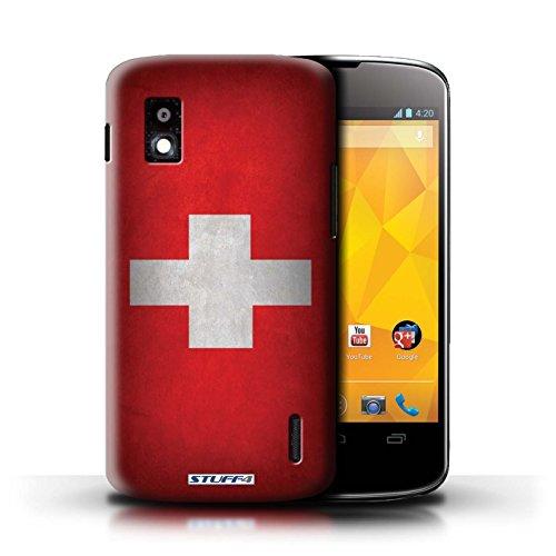 Kobalt® Imprimé Etui / Coque pour LG Nexus 4/E960 / Honduras conception / Série Drapeau Suisse