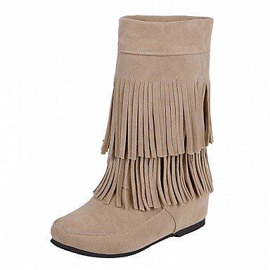 Wsx & Plm Womens-tobillo Boots-boda Oficina Y Trabajo Formal Casual Noche Y Fiesta-cómodo Innovative-wedge-fabric-black Amarillo Rojo Gris Amarillo