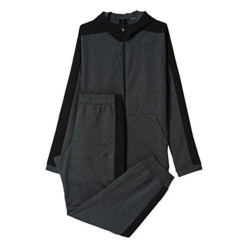 adidas Herren Trainingsanzug Hooded Jogger, Dgreyh/Black, 8, AJ6284 (Adidas French Terry-set)
