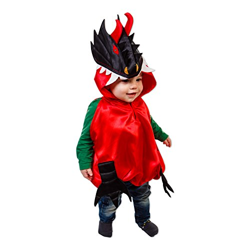 Drachen Kostüm für Kleinkinder 0-3 Jahre alt - Babykostüm Drache - Slimy (Des Kleinkind Ritter Drachen Kostüme)