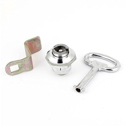 1/2PT Halterung Toolbox Raum Schublade Teil Flugzeug Cam Lock Silber Ton (Schublade Teilen)