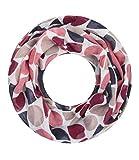 Majea Loop Schal Damen Schlauchschal - viele Farben - modischer Loopschal - Halstücher (weinrot 6)