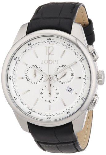 Joop Observer JP101171F01 - Reloj analógico de cuarzo para hombre, correa de cuero color negro (cronómetro)