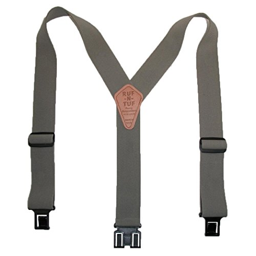 Perry Braces Men's Elastic Ruf-N-Tuf Hook End Braces (Tall Available)
