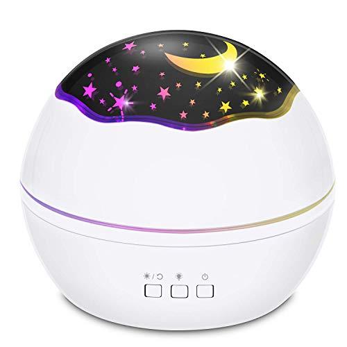 Lampe, Nachtlicht Sterne Lampe 360 Grad Rotation, Multifunktional Dimmbar stimmungslicht für Schlafzimmer, Party und Romantische Dekorationen [Energieklasse A+] ()