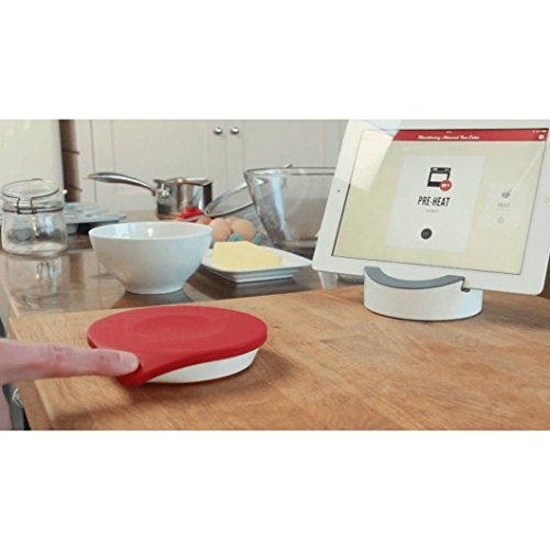 Drop Non-Slip Connected Kitchen Scale/Cocktail Maker mit interaktiver Rezepte-App, FDA Approved Silicone, rot