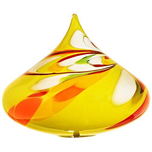ArtGlass Gartenkegel, Gartendeko, Dekoartikel KREISEL gelb, ca. 20 cm, moderner Style (ART GLAS powered by CRISTALICA)