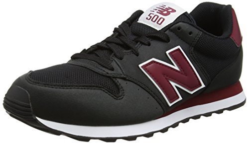 New Balance GM 500 KWR - Scarpe da Ginnastica Basse Uomo, Multicolore (Black/Red), 45 EU