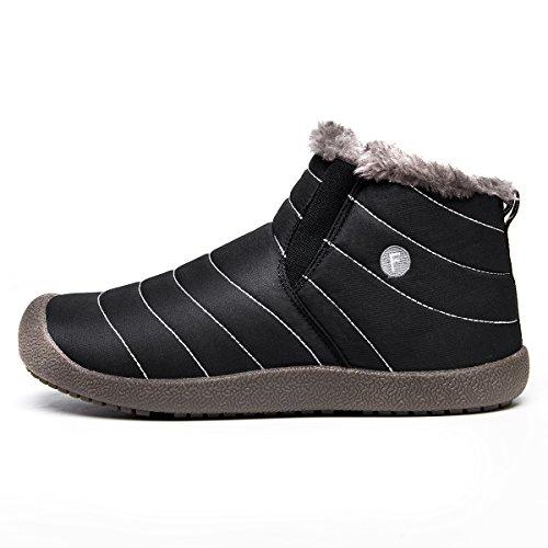 Winter Stiefel Slip Herren Komfort On Damen SITAILE Outdoor Knöchelhoch Boots Schwarz für wBOn7vw68q