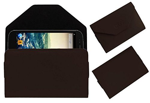 Acm Premium Pouch Case For Micromax Canvas 4 A210 Flip Flap Cover Holder Brown  available at amazon for Rs.179
