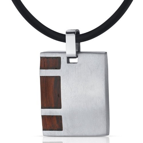 peora-suave-and-macho-stainless-steel-with-rosewood-finish-square-pendant-necklace-for-men