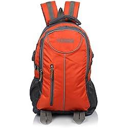 Suntop Neo 7 26 Ltrs Grey & Orange Checks Unisex Backpack