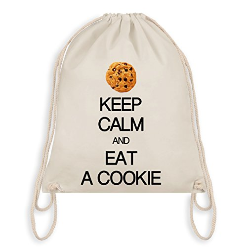 (Keep calm - Keep calm and eat a cookie - Unisize - Naturweiß - WM110 - Turnbeutel & Gym Bag)