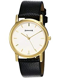 Sonata Analog White Dial Men's Watch NM7987YL02W / NL7987YL02W