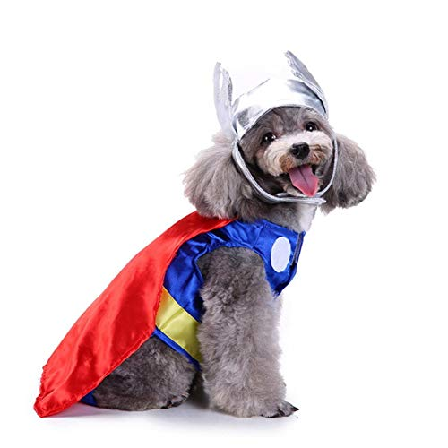 AMURAO Winter-Haustier-Hundekleidung, Haustier-Halloween-Kostüm-Weihnachtsmantel-Jacken-Geburtstagsfeier verwandeln