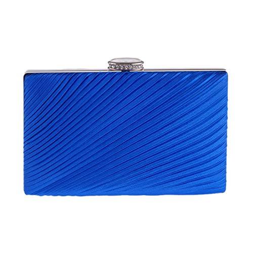 JESSIEKERVIN Kleine Quadratische Mini Clutch Bag Abend Party Tasche Faltbare Tuch Tasche Diamond (Color : Blue)