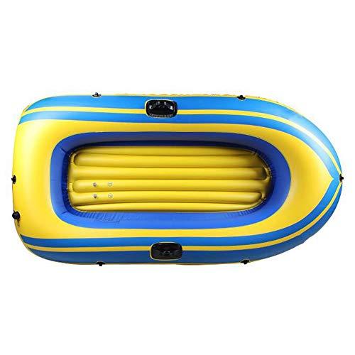 ZOUBIAG Aufblasbares 2-Personen-Kajak-Set Mit Schlauchboot, Zwei Original-Kunststoffpaddeln Und Leistungsstarker Luft-Fußpumpe (Color : Yellow, Size : A)