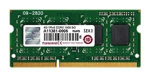 Transcend JM1600KSH-4G 4GB 1600MHZ DDR3 Laptop Ram