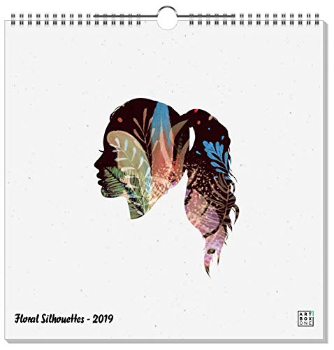 artboxONE Wandkalender Quadratisch XXL 2019 Floral Silhouettes Wandkalender Quadratisch XXL Floral