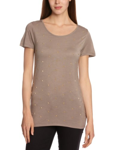 Soaked In Luxury Damen T-shirt , Rundkragen Grau - Cement