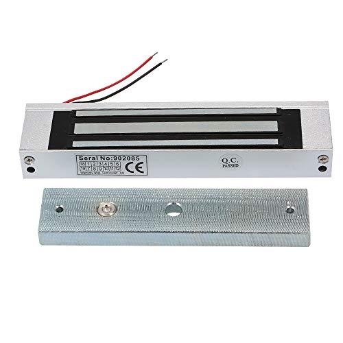 OWSOO verrou Serrure electromagnétique,180KG 350 LB Force de Maintien,électrique Serrure magnétique pour Porte accès contrôle système électro-Aimant NC Fail-Safe Mode
