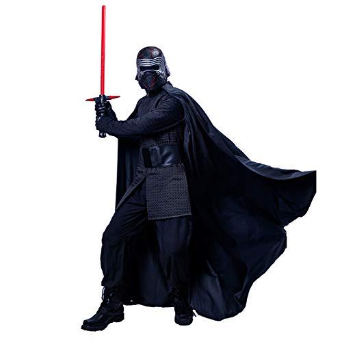 Mesky EU Kylo Kostüm Ben Solo Kostüm Black Series Kleidung Zubehör SW 9 Version PU-Film für Erwachsene Gr. X-Large, Schwarz