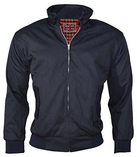 Urban Couture Clothing, Unisex Bomberjacke Harrington - Marineblau, XXL