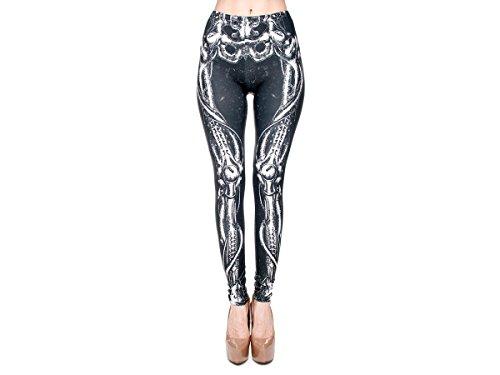 Print Leggings Damen 30 Modelle Gym Leggins Legins Ladies Hipster Pants von Alsino LEG-016 Alien