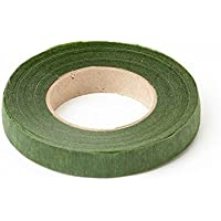 Moss Green Stem Tape 90 feet x 13mm. Stem - Tex. For Corsages, Bouquets, Flowers, Arrangements and Crafts. by Smithers Oasis