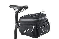 VAUDE Radtasche Off Road Bag M, Sattelstützentasche, schwarz, 7+3 l